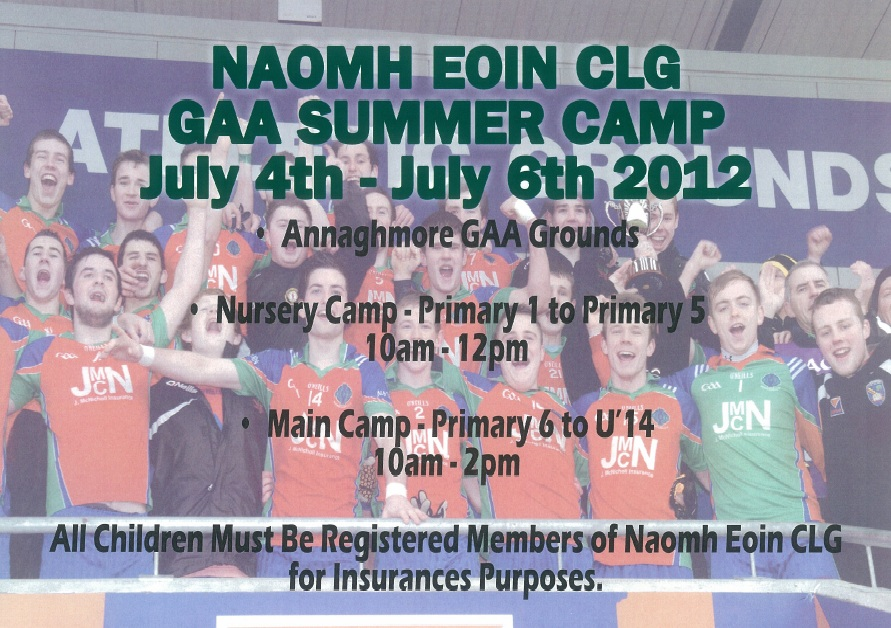 Clonmore Community Website Naomh Eoin Summer Camp - Clonmore ...