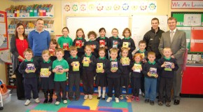 CRG and Clonmore GFC present Clintyclay pupils with Easter eggs