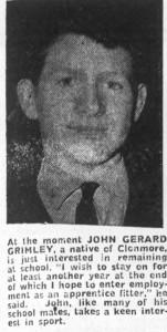 John G Grimley 1968