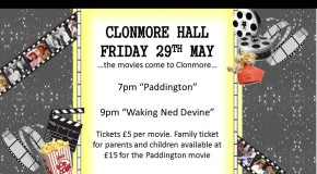 Friday night at the movies in Clonmore Hall